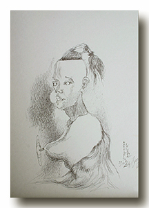 The Princess of Absurd (ballpoint pen, 40x29) © Nikolai Shmatko