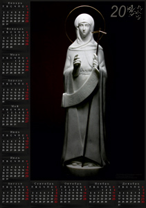 Exclusive calendar-poster (religious topic).